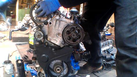 Timing belt on an XUD motor - YouTube