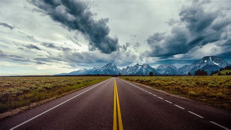 Wallpaper road, sky, clouds, mountains, 8k, Nature #17775