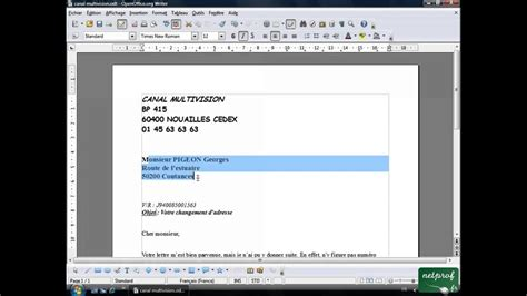 Open office ou Libre office - Texte 07 - Alignement - YouTube