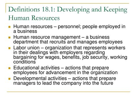 PPT - Chapter 18 Managing Human Resources PowerPoint