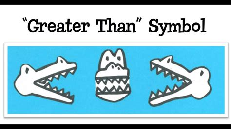 How To Write The Greater Than Symbol - YouTube