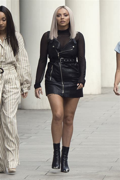 Little Mix at BBC Radio One - Leather Celebrities