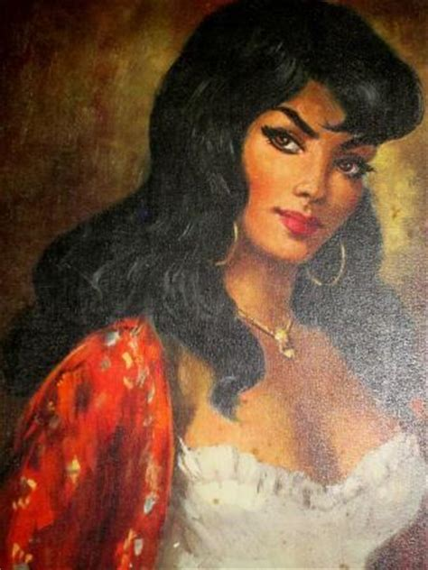 Prints - Very large Mid Century Tretchikoff / Lynch style