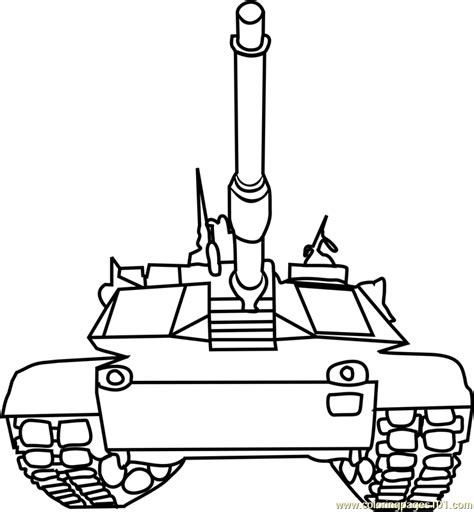 Tanks front view Coloring Page - Free Tanks Coloring Pages
